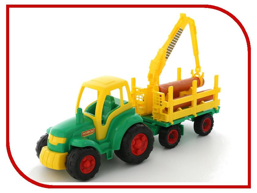 Игрушка Полесье Трактор Чемпион+ прицеп-лесовоз 8229 игровые наборы tomy britains big farm фермерский прицеп со свинками