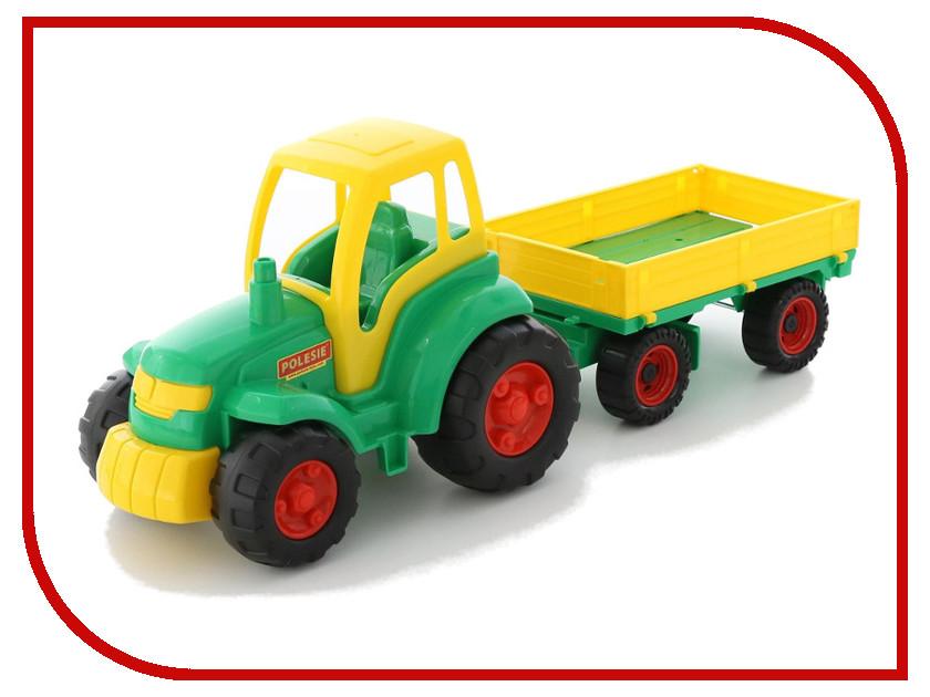 Игрушка Полесье Трактор Чемпион с прицепом 0551 конструктор playmobil 1 2 3 трактор с прицепом 6964pm