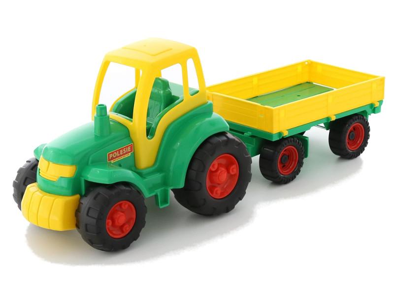 Игрушка Полесье Трактор Чемпион с прицепом 0551 smoby 710108 трактор педальный xl с прицепом красный