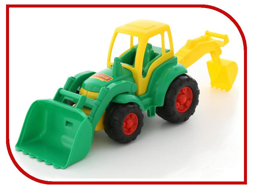 Игрушка Полесье Трактор Чемпион с лопатой и ковшом 0513 машины tomy john deere трактор monster treads с большими колесами и вибрацией