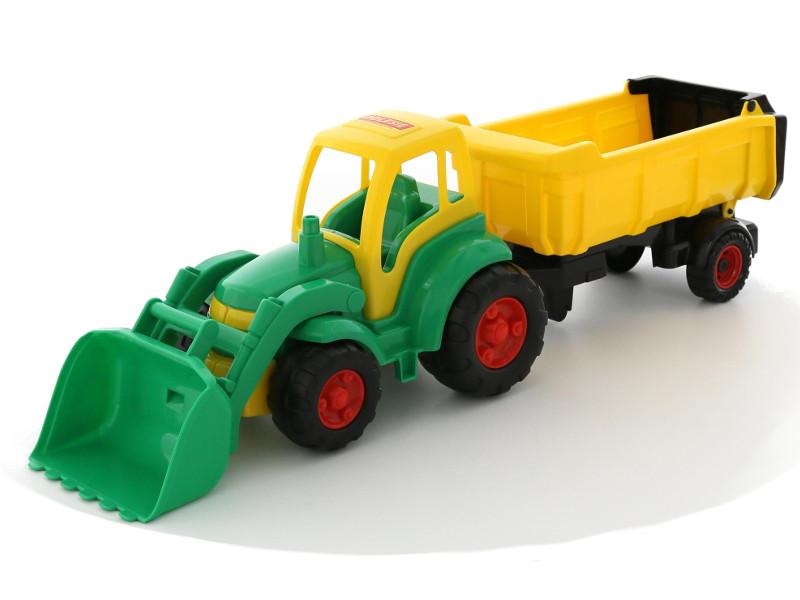 Игрушка Полесье Трактор Чемпион с ковшом и полуприцепом 0438