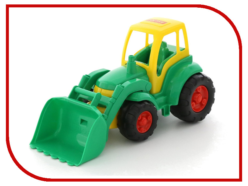Игрушка Полесье Трактор Чемпион с ковшом 0476 трактор с ковшом пламенный мотор зелёный от 6 лет пластик 87575