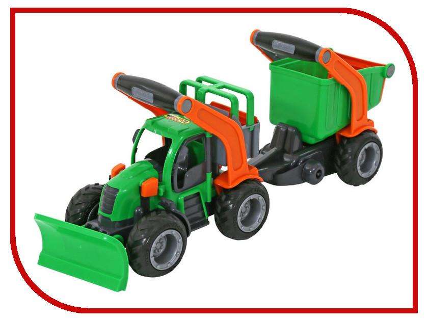 Игрушка Полесье Трактор ГрипТрак снегоуборочный с полуприцепом 37381