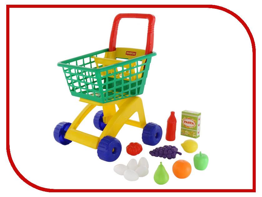 Игра Полесье Тележка для маркета + набор продуктов №8 61928