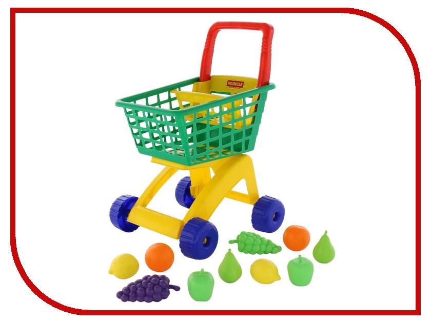 Игра ПолесьеТележка для маркета + набор продуктов №7 61911