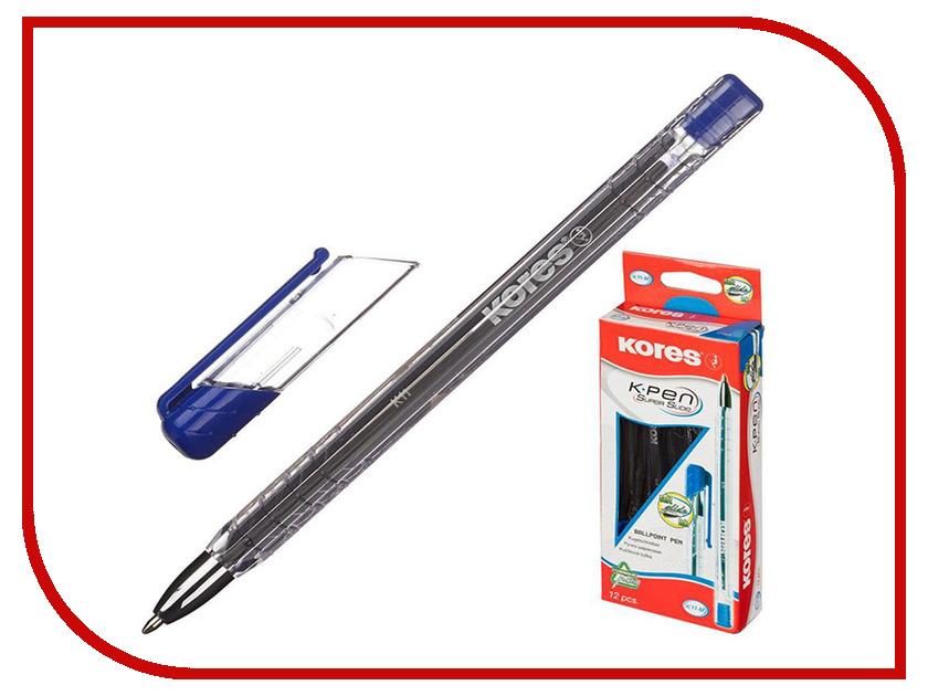 Ручка шариковая Kores Blue 614069 маркер kores 1mm red 282355