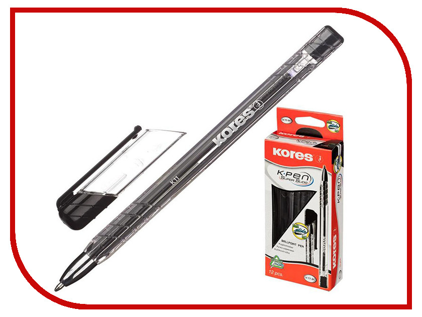 Ручка шариковая Kores Black 614070 ручка шариковая kores 4шт 270431