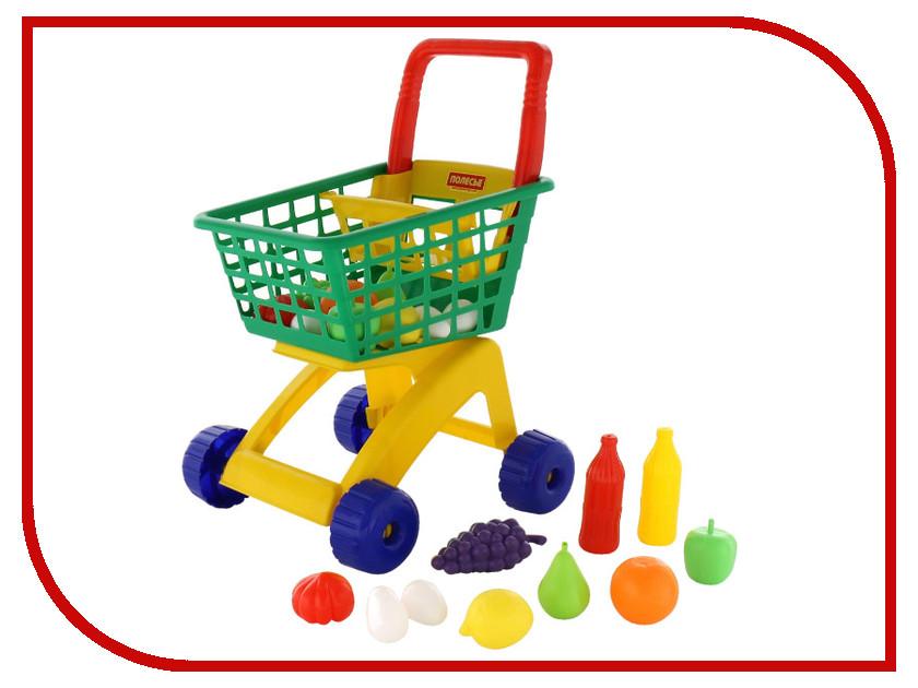 Игра ПолесьеТележка для маркета + набор продуктов №6 61904