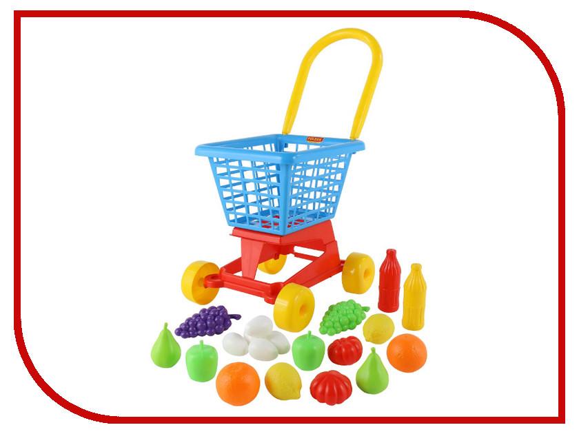 Игра Полесье Тележка Supermarket №1 + набор продуктов 42989