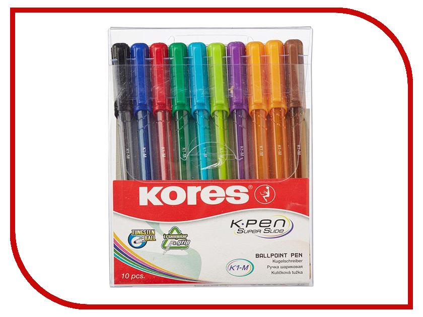 Ручка шариковая Kores 10шт 472621 корейский канцелярские канцелярские акварель ручка гелевые ручки комплект 10шт цвет kandelia