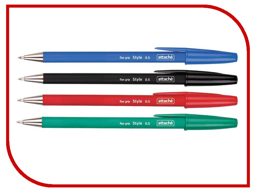 Ручка шариковая Attache Style 4шт 148059 ручка шариковая kores 4шт 270431