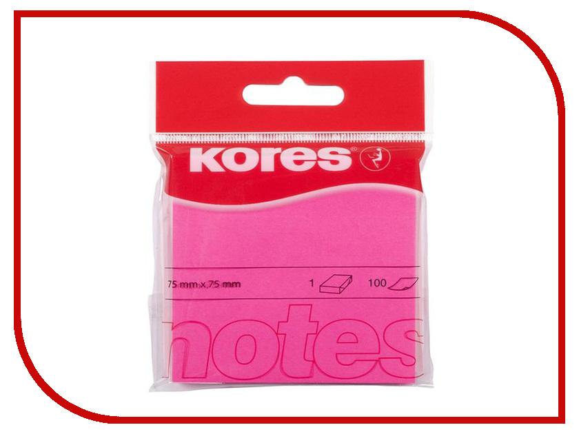 Стикеры Kores 75x75mm 100 листов Neon Pink 330461 стикеры pink dolphin