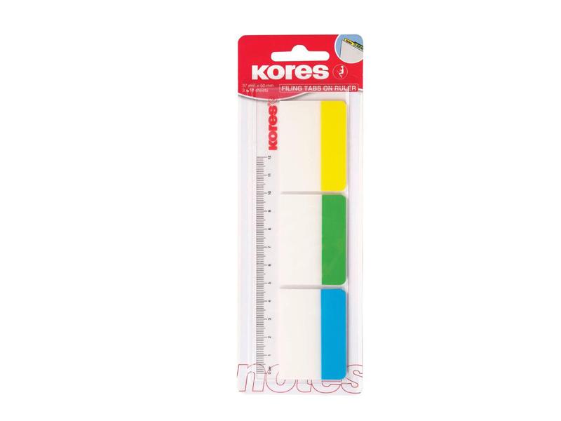 Стикеры Kores 37x50mm 30 листов 3 цвета 201926