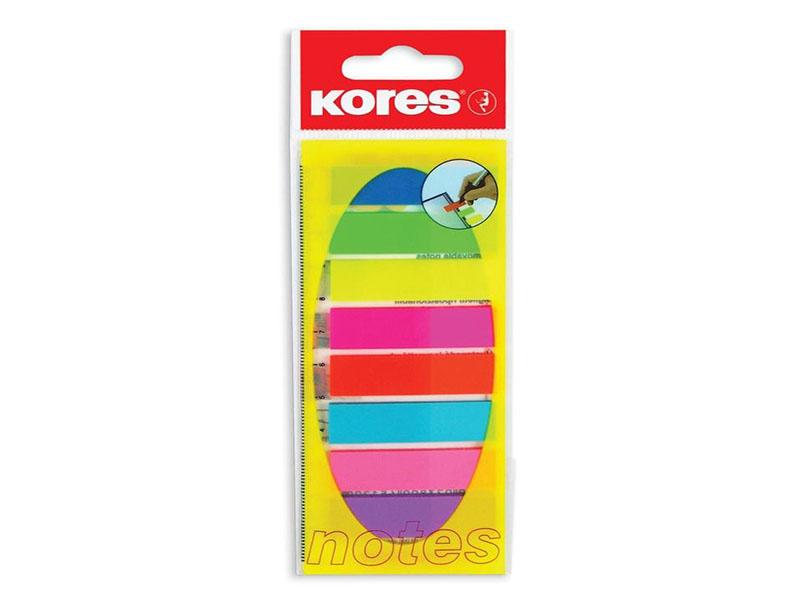 Стикеры Kores Film 12x45mm 200 листов 8 цветов 83855