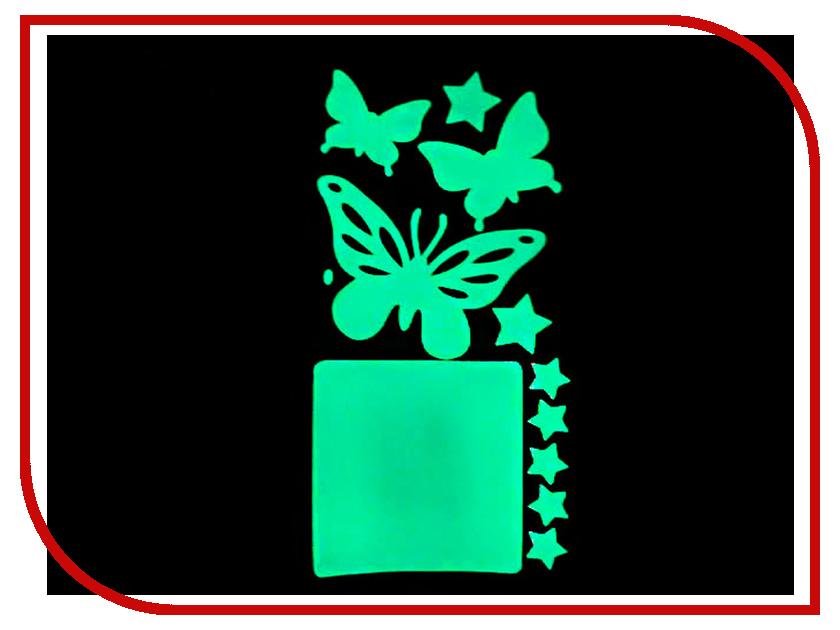 Наклейка на выключатель Freeze Light Бабочки FL-НВБ-18 наклейка на выключатель freeze light фея и звезды fl нвфз 18