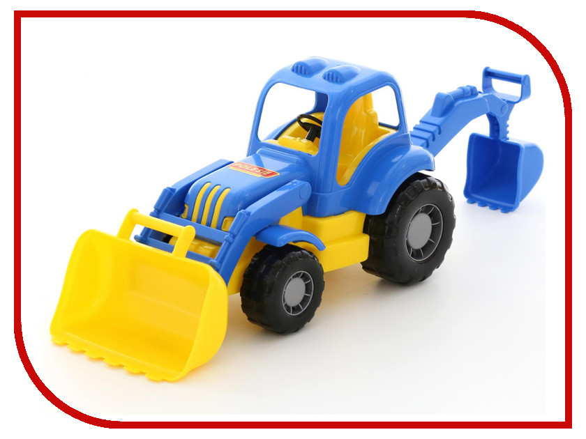 Игрушка Полесье Экскаватор Силач 45065 полесье полесье игрушка каталка mammoet volvo мега экскаватор колесный