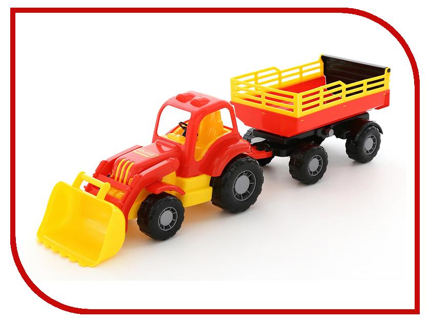 Игрушка Полесье Трактор Силач с прицепом №2 конструктор playmobil 1 2 3 трактор с прицепом 6964pm