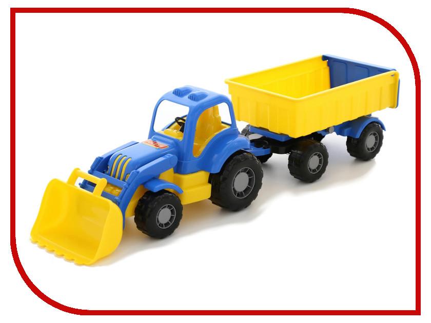 Игрушка Полесье Трактор Силач с прицепом №1 и ковшом 45027 конструктор playmobil 1 2 3 трактор с прицепом 6964pm