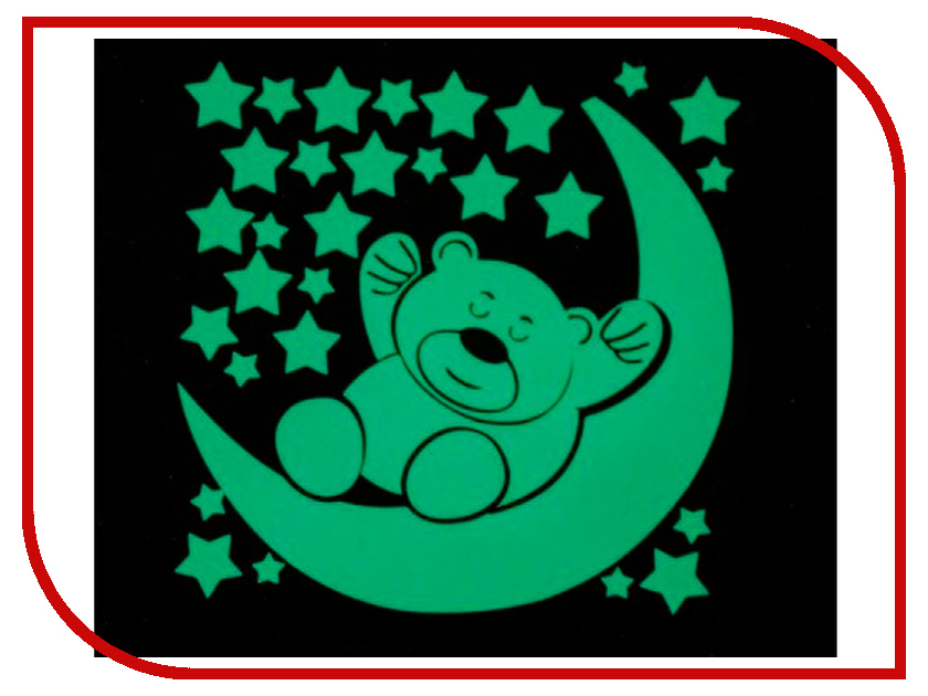 Наклейка декоративная Freeze Light Мишка и месяц FL-НДМес-18