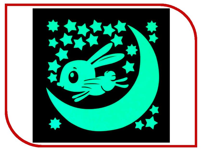 Наклейка декоративная Freeze Light Заяц и месяц FL-НДЗМес-18