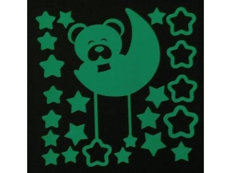 Набор для творчества Наклейка декоративная Freeze Light Лунный медвежонок FL-НДЛУМ-18
