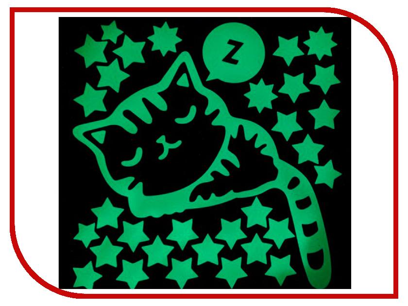 Наклейка декоротивная Freeze Light Спящий котик FL-НДСк-18
