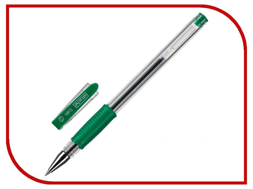 Ручка гелевая Attache Town Transparent-Green 168716 цена 2017