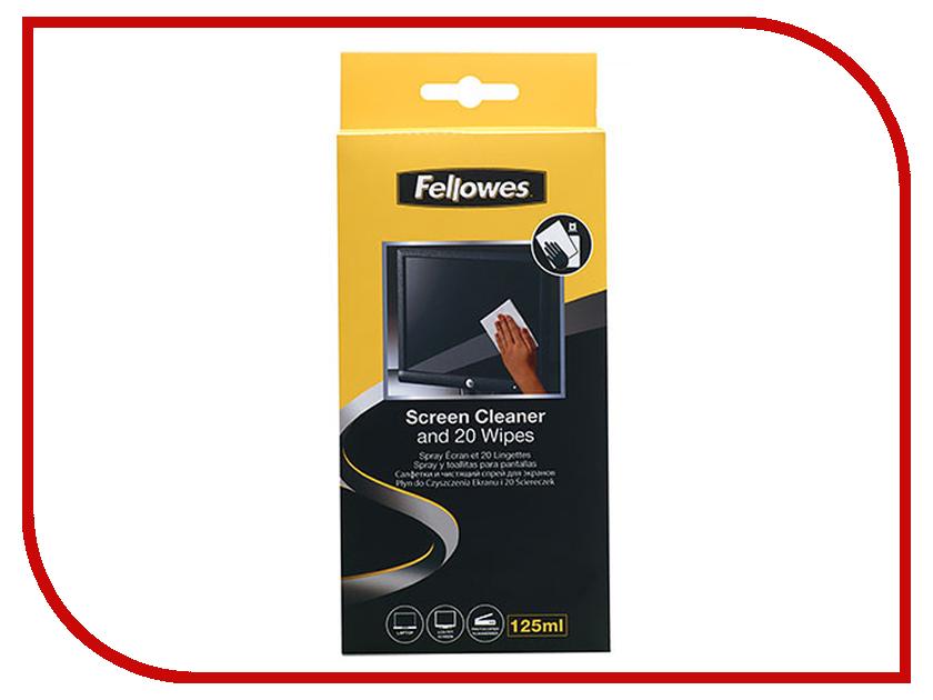 Аксессуар Fellowes Чистящий набор для экранов и оптики (спрей + салфетки) FS-99701
