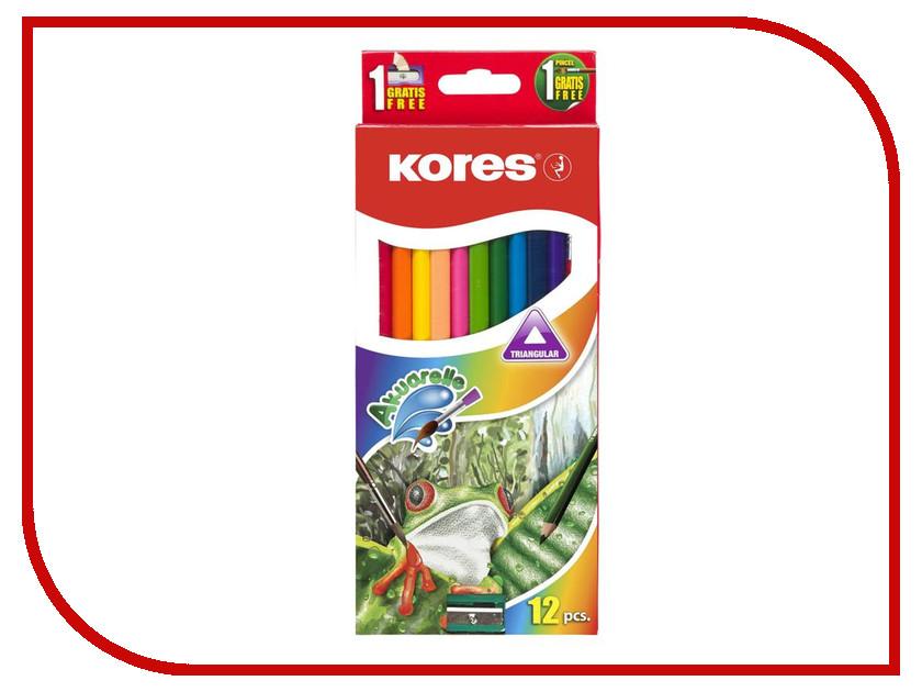 Карандаши цветные Kores 12 цветов 312700 карандаши цветные kores 48 цветов 24шт 128907