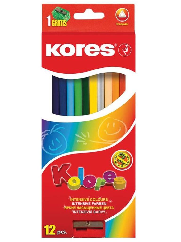 Карандаши цветные Kores 12 цветов 128902