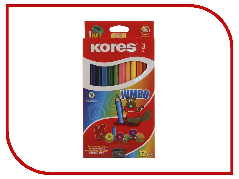 Карандаши цветные Kores 12 цветов 128905 карандаши цветные kores 48 цветов 24шт 128907