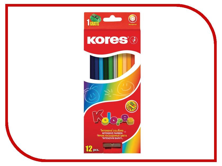 Карандаши цветные Kores 12 цветов 128899 карандаши цветные kores 48 цветов 24шт 128907