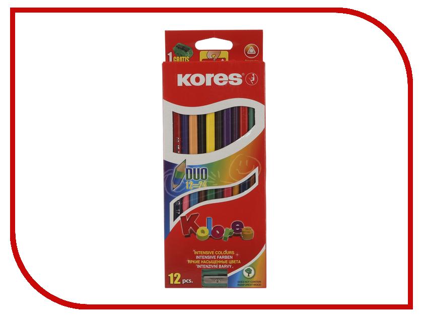 Карандаши цветные Kores 24 цвета 12шт 128906 limpopo карандаши цветные super model 24 цвета