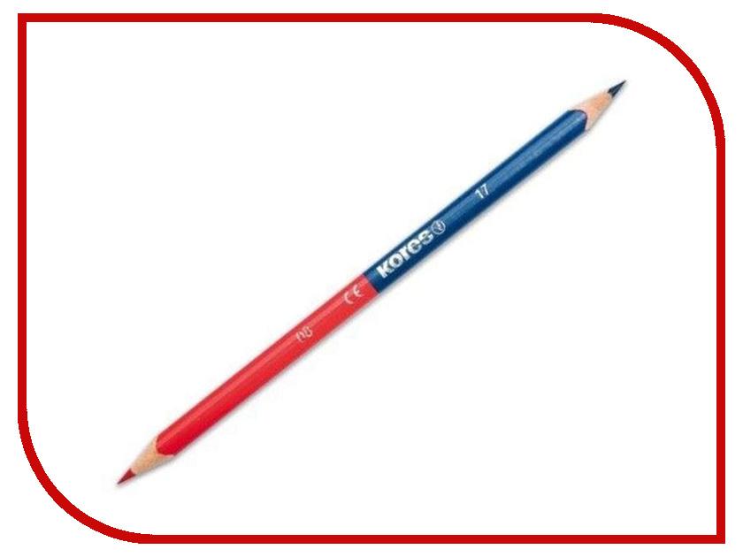 Карандаш цветной Kores 2 цвета 205708 faber castell классический цветной карандаш 48 цветной масляный цветной карандаш цветной цветной карандашный набор для карандашей 115848 iron box