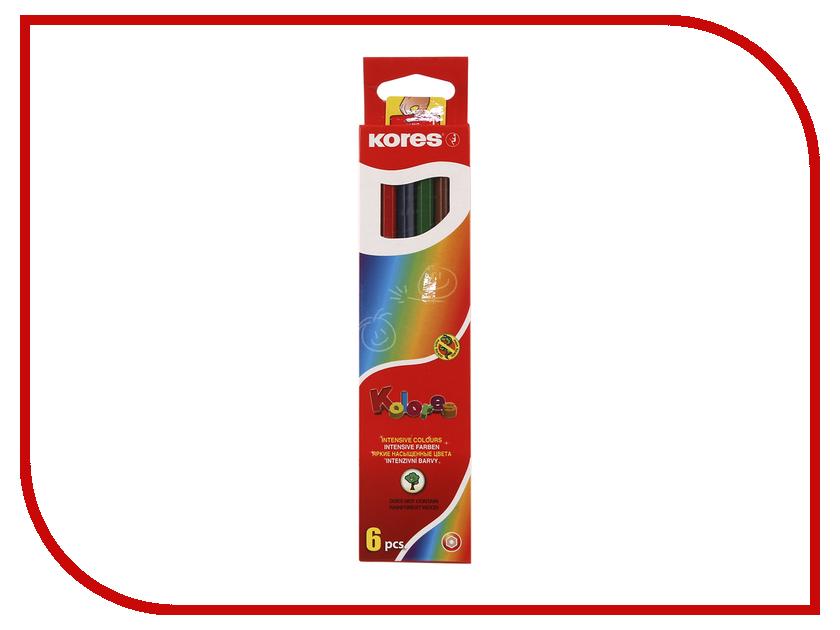 Карандаши цветные Kores 6 цветов 153053 карандаши цветные kores 48 цветов 24шт 128907