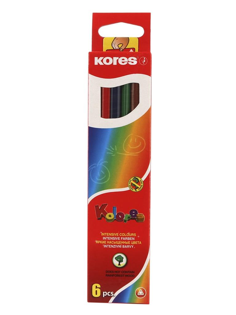 Карандаши цветные Kores 6 цветов 153052