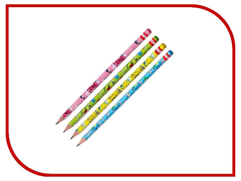 Карандаш чернографитный Kores Fantasy 4шт 464145 ручка шариковая kores 4шт 270431