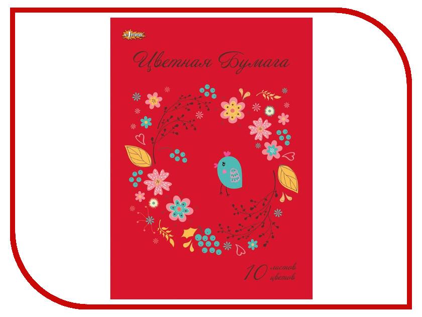 Цветная бумага №1 School Птички А4 10 цветов 734665 бумага цветная 10 цветов 2 металлизированных а4