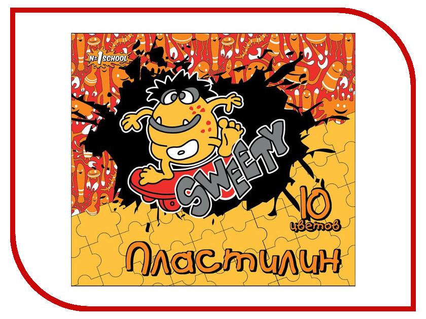 Набор для лепки №1 School Пластилин Puzzle 10 цветов 150гр 356092
