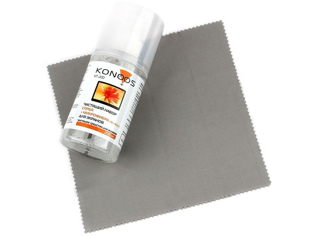 Жидкость для экранов Konoos KT-200 200ml + салфетка из микрофибры 18x18cm
