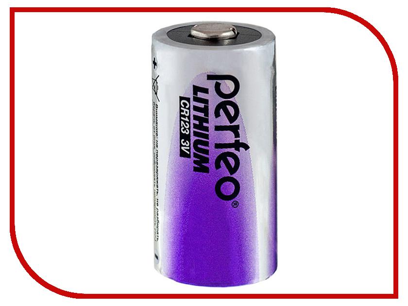 Батарейка Perfeo CR123/1BL Lithium (1 штука) радиоприемник perfeo егерь fm синий i120 bl