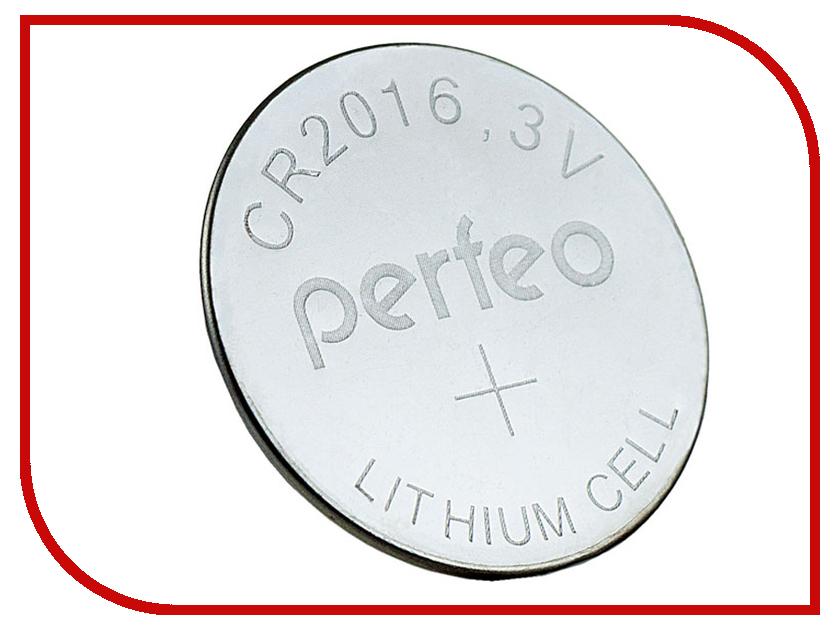 Батарейка Perfeo CR2016/1BL Lithium Cell (1 штука) радиоприемник perfeo егерь fm синий i120 bl
