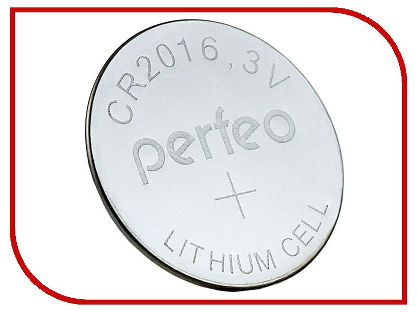 Батарейка Perfeo CR2016/5BL Lithium Cell (5 штук)