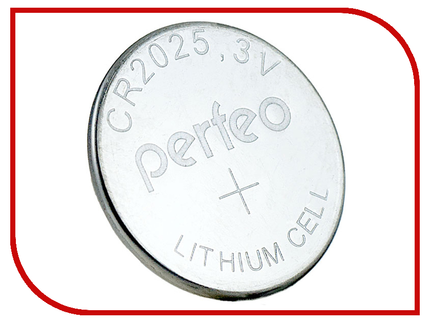 Батарейка Perfeo CR2025/5BL Lithium Cell (5 штук) 3v cr2025 cell button batteries 5 piece pack
