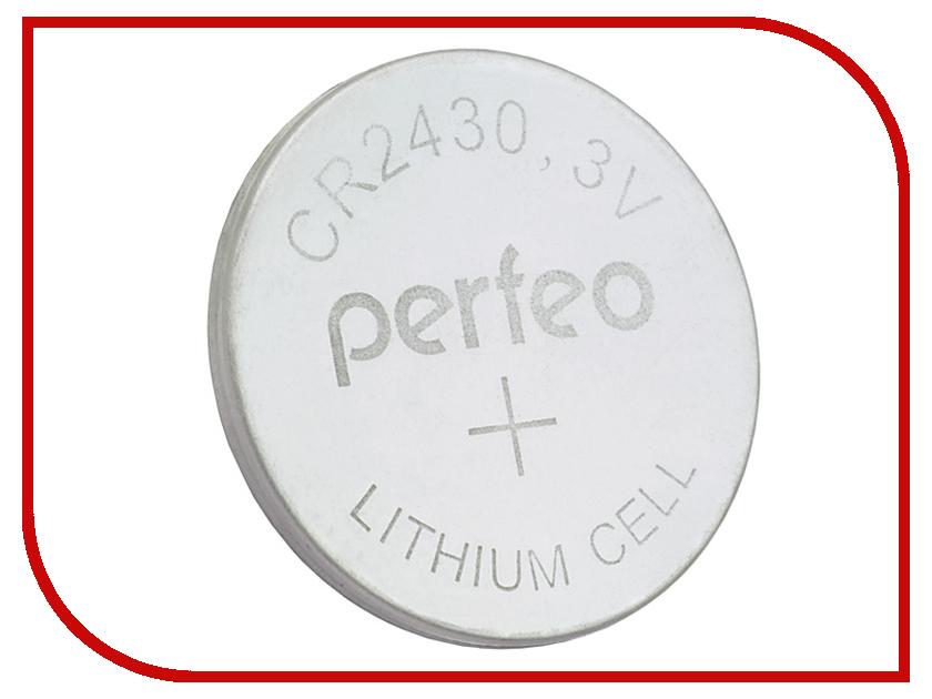 Батарейка Perfeo CR2430/5BL Lithium Cell (5 штук) радиоприемник perfeo егерь fm синий i120 bl
