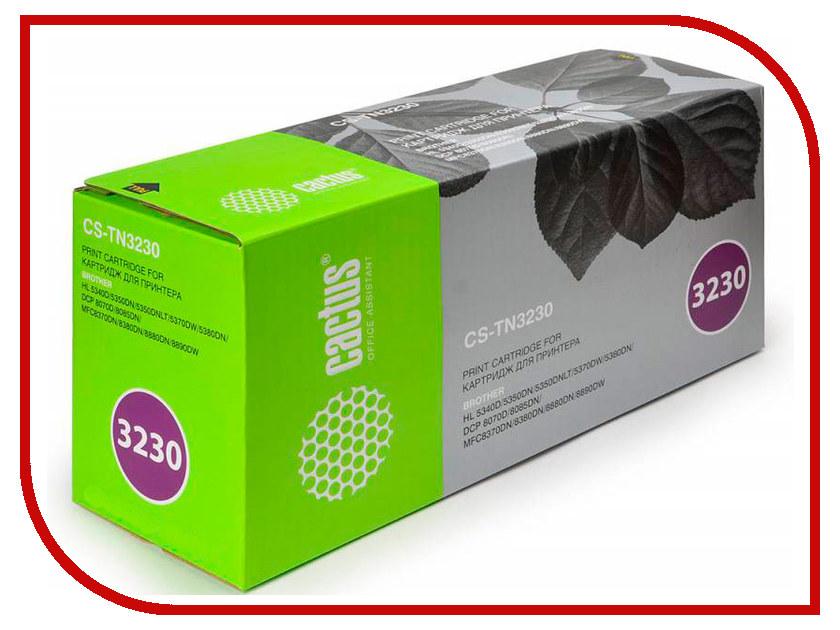 Картридж Cactus CS-TN3230 Black для Brother HL-5340D/5350DN/5370DW/DCP-8070D/8085DN cs tn650 bk print top premium toner cartridge for brother tn 3230 3290 3280 hl 5350 5350d 5350dn 5350dnlt 3kpages free fedex