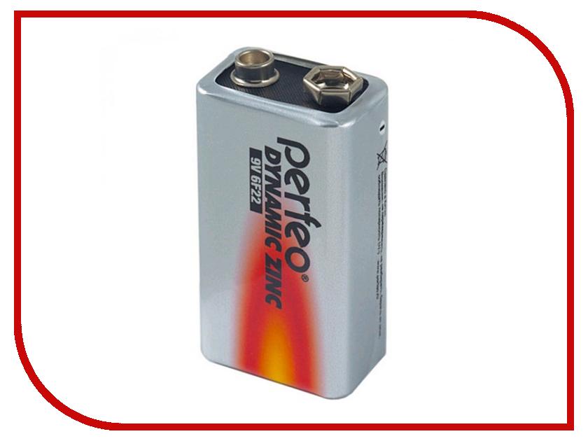 Батарейка Perfeo 6F22/1BL Dynamic Zinc (1 штука) батарейка perfeo r20 2bl dynamic zinc 2 штуки