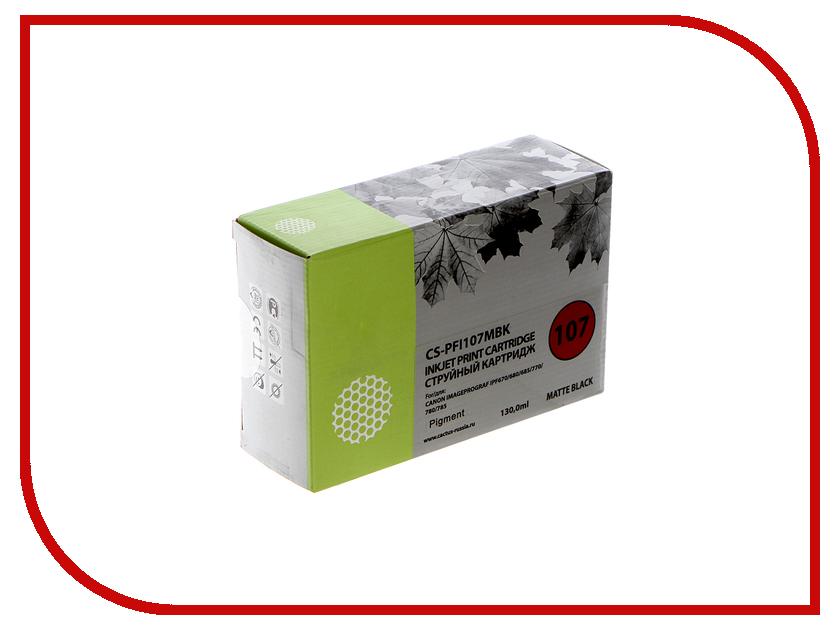 Картридж Cactus CS-PFI107MBK Black Matte 130ml для Canon IP iPF670/iPF680/iPF685/iPF770/iPF780/iPF785 for canon pfi 107 disposable cartridge chip for canon ipf680 ipf685 ipf770 ipf780 ipf785 printer