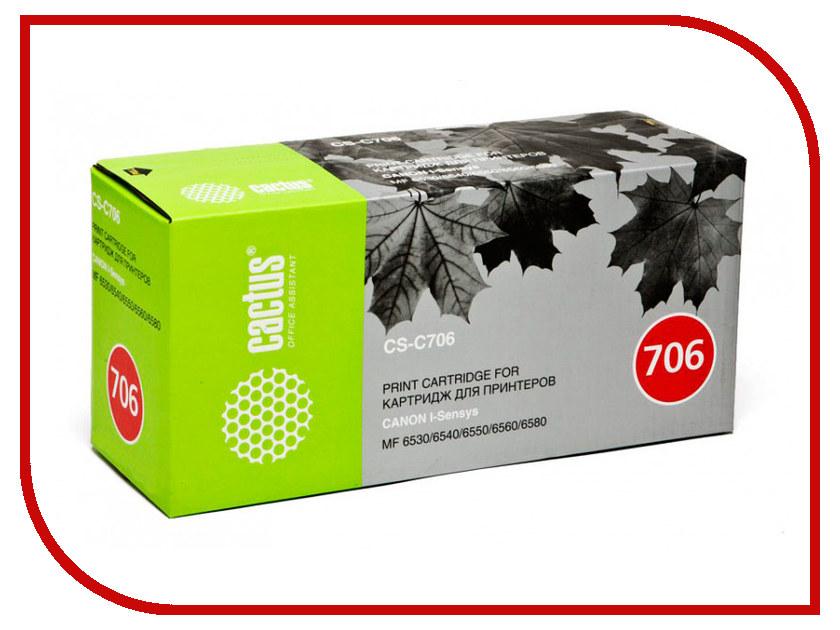 Картридж Cactus CS-C706 Black для Canon MF6530/6540/6550/6580 картридж cactus cs pg440xl black
