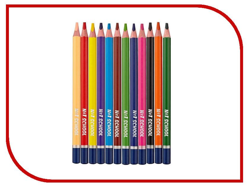 Карандаши цветные №1 School Морские друзья Jumbo 12 цветов 406758 centrum цветные карандаши jumbo 12 цветов